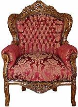 Barock Möbel Barock Sessel braun/bordeaux
