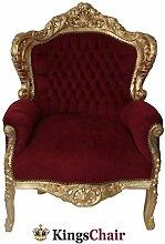 Barock Möbel Barock Sessel gold/bordeaux