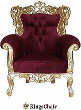 Barock Möbel Barock Sessel Grande gold/bordeaux
