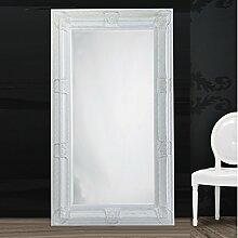 BAROCK RAHMEN SPIEGEL 99 x 189 cm antiker Facettenspiegel jugendstil von Xtradefactory weiß