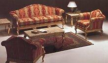 Barock Salon Sofa 2er 3er Sessel Tisch Antik Stil Vp0820