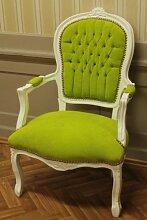 Barock Sessel grüner Samt/Velourstoff antik Stil Massivholz. Replizierte Antiquitäten von LouisXV Buche (Ahorn, Mahagoni, Eiche) Antikmessing Beschläge, furniert, intarsier