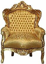 Barock Sessel in Gold, handgeschnitz