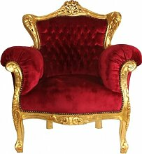 Barock Sessel Lord Bordeaux/Gold