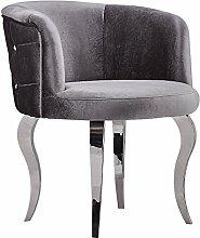 Barock Sessel Stuhl mit Velours mit Metallbeinen