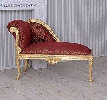 Barock Sofa Marie Antoinette Chaiselongue Rot