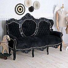 Barock Sofa Schwarz Couch Sitzbank Barocksofa