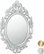 Barock Spiegel, ovaler Spiegel zum Aufhängen,