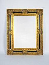 Barock-Spiegel / Wandspiegel antik gold / schwarz,