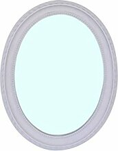 Barock Spiegel Wandspiegel Oval weiss 47x37