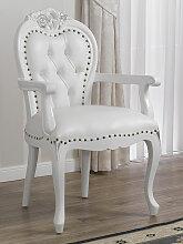 Barock Stuhl mit Armlehnen Amalia Moderner Stil
