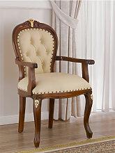 Barock Stuhl mit Armlehnen Charlotte Englischer