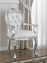 Barock Stuhl mit Armlehnen Charlotte Moderner Stil