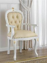 Barock Stuhl mit Armlehnen Charlotte Stil Decape
