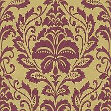 Barock Tapete Gold Bordeaux 369103 | BEAUTIFUL