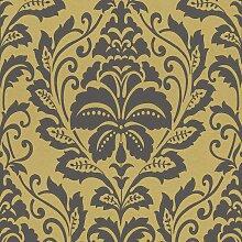 Barock Tapete Gold Schwarz 369101 | BEAUTIFUL