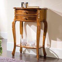 Barock Telefontisch mit Nussbaum furniert 50 cm