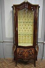 Barock Vitrine Rokoko Antik Stil Schrank Louis XV MKVi0013