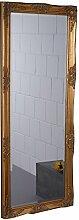 BAROCK WANDSPIEGEL | 60 x 150 cm, gold | Facettenschliff, Spiegel im Antiklook, Flurspiegel