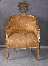 BAROCKER Sessel KÖNIGLICH Gold ANTIK Sessel