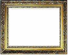 Barockrahmen Gold fein verziert 840 ORO, 60x90 als