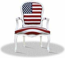 Barockstil Sessel mit Stars and Stripes antik Stil Massivholz. Replizierte Antiquitäten von LouisXV Buche (Ahorn, Mahagoni, Eiche) Antikmessing Beschläge, furniert, intarsier