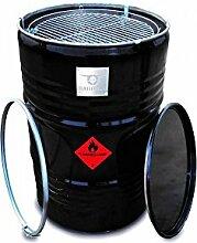 BarrelQ Big Feuertonne Feuerkorb Ölfass Grill BBQ