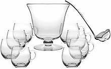 Barski Bowle-Set aus Glas, 10 Stück, inkl. 1
