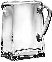 BARSKI handgefertigt Rechteck Glas Krug mit Griff,