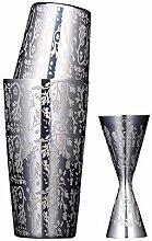 BarSoul Boston Coketail Shaker Carved Design 304