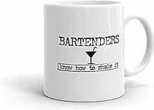 Bartender Coffee Mug, Bartenders Know How to Shake
