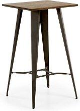 Bartisch aus Bambus massiv Stahl
