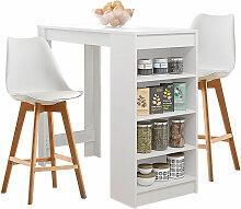 Bartisch Beistelltisch Esstisch mit 2 Stühlen