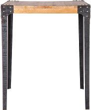 Bartisch quadratisch Industrie-Design Holz und