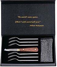 Barvelli Austernmesser-Set für Muschelfisch- und