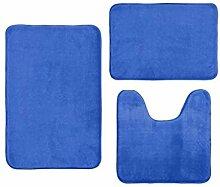 Bascar Badematte Set 3 Teilig Polyesterfaser,