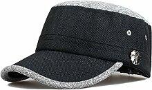 Baseball-Kappen Klassische wilde mehrfarbige optionale Entenkappe Sonnenschutz-Baseballmütze ( Farbe : Schwarz )