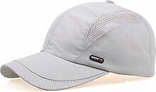 Baseball-Kappen Leichte Und Breathable Mehrfarbige optionale Entenkappe Sonnenschutz-Baseballmütze ( Farbe : Hellgrau )
