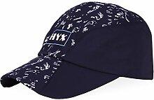 Baseball-Kappen Outdoor-Sonnenschutz-Sonnenhut Mehrfarbige optionale Baseballmütze Sport-Hut ( Farbe : Marine )