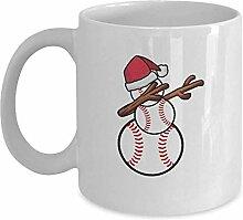 Baseball-Schneemann-Weihnachtsbecher - weiße