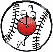 Baseball Sport Vinyl-Wanduhr – originelle