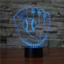Baseballhandschuhe Touch Tischlampe 7 Farben