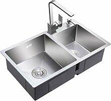 BASIN Baumarkt 2 Becken Spülbecken Waschbecken