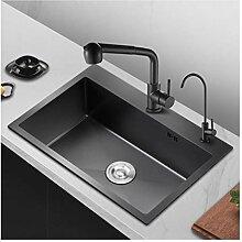 BASIN spüle Schwarz Waschbecken For Die Küche