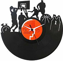 Basket NBA Geschenkidee, Vinyl Schallplatten- Uhr, Schwarz, Vinyluse original
