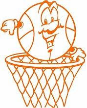 Basketball Aufkleber 005, 30 cm, orange