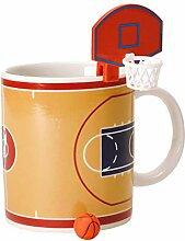 Basketball Kaffeebecher mit Korb und Ball - Tasse