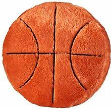 Basketball-Kissen - Fluffy Plüsch Ballkissen,
