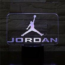 Basketball Michael Jordan Usb 3D Led Nachtlicht