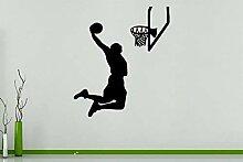 Basketball Player Slamdunk Sport Wandkunst